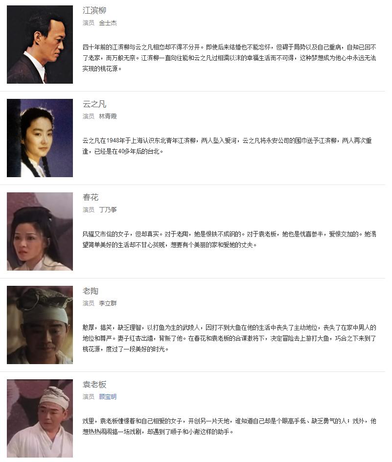「暗恋桃花源」触及心底的台词片段